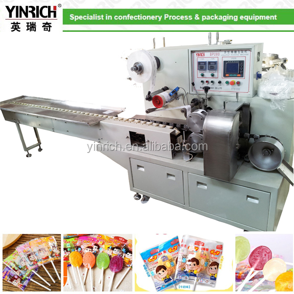 Flat type lollipop wrapping machine