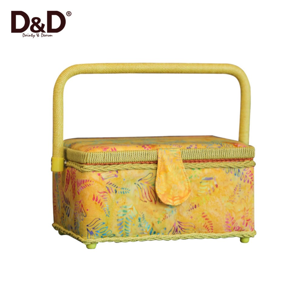 D&D Fabric Storage Box handmade Sewing Basket Anti-radiation Storage boxes With Handle