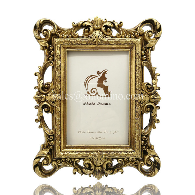 Antique gold resin ornate texture picture photo frame 4X6