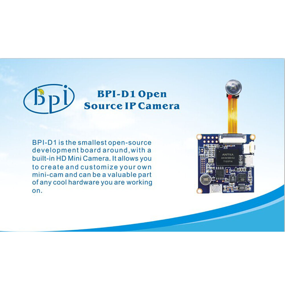 Top rated Banana Pi 1080x720 P@ 30fps board camera with WiFi is the best mini recording camera.