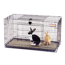 Cheap Price PVC Coated Welded Mesh Folding Rabbit Cage/House with Two Doors and Tray