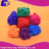 Regenerated dope dyed colored psf polyester staple fiber