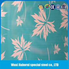 HL Acid Etching Embossed Color Stainless Steel Sheet Metal Plate