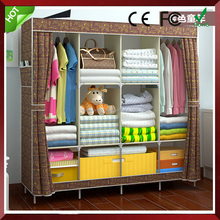 New Reinforced Small Portable Closet Folding Clothes Wardrobe Bedroom Furniture