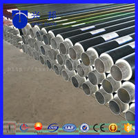 hdpe jacket fabricated pre insulated seamless steel pipe pu rigid foam insulated pipe for hospital heating supply