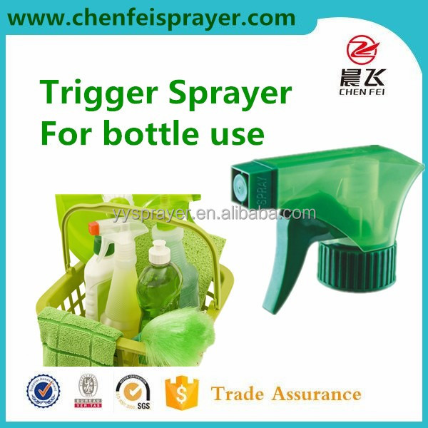 Plastic trigger sprayer 28 400 hand sprayer pump use in bottle discharge rate 0.8ml and ribbed clouse any color can be custom