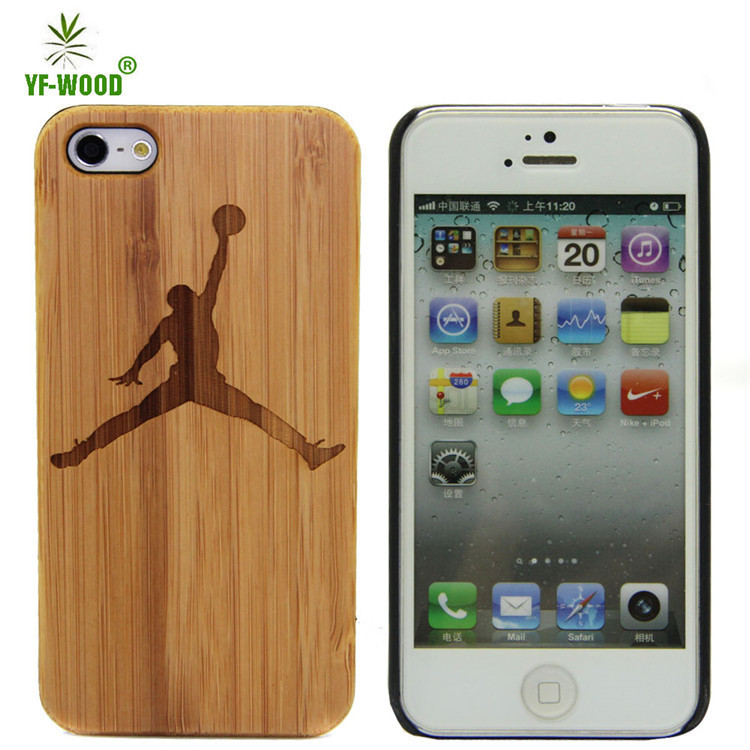 Cell Phone Case Wood Engraving Bamboo Housing For iphone5s