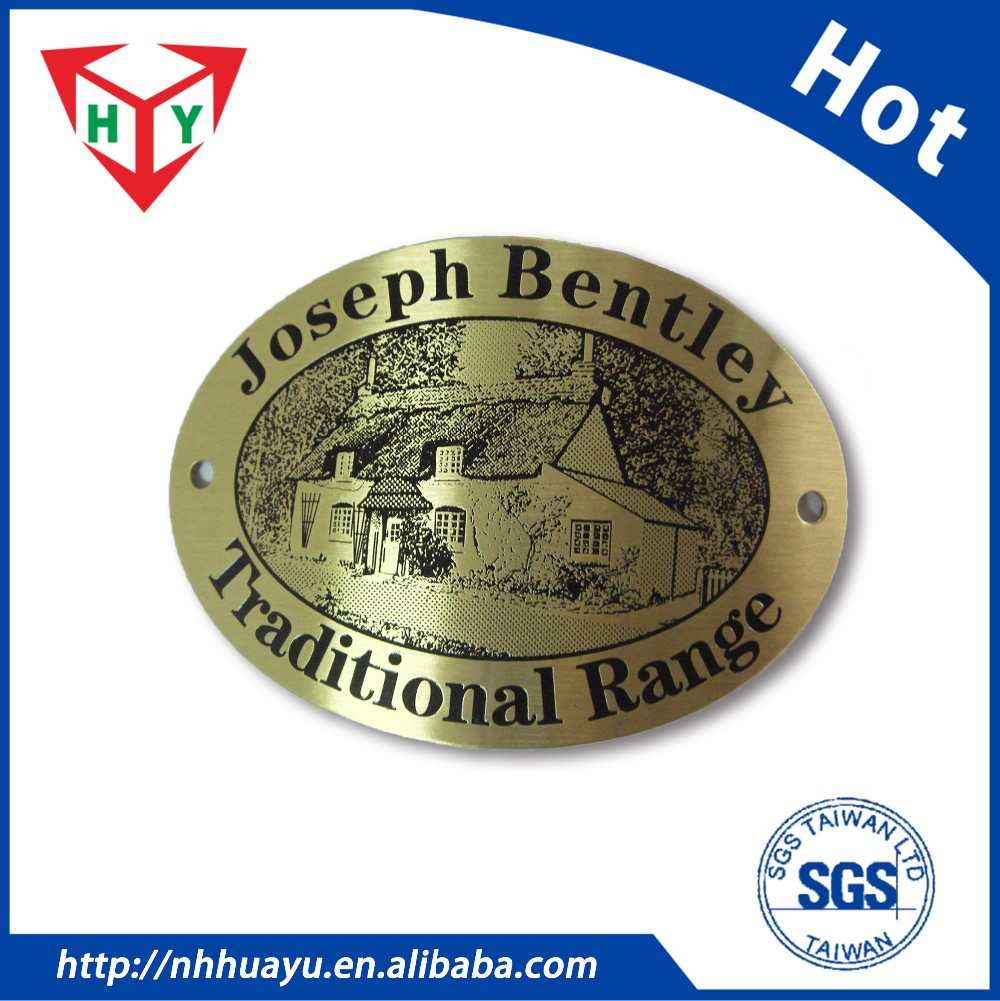 Custom High quality 0.3 ~ 2mm Metal nameplate / Metal logo / aluminum name tag