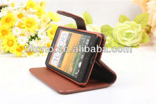 Flip Skin Cover leather case for HTC T528w