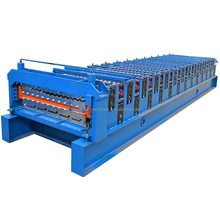 Oversea hot sale double layer deck corrugated roof tile roll forming machine