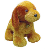 Brown big ears soft plush fat dog toy 2015