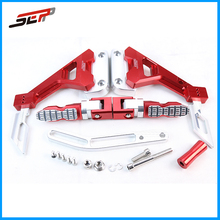 LC150 CNC Machined Aluminum motorcycle adjustable Footpeg for Yamaha RC150 - Red