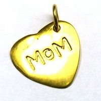 Heart Mom Gold Plated Charm