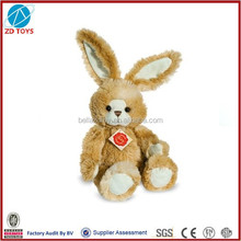 fluffy long ears rabbit plush toy