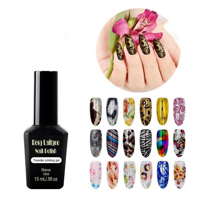 OEM/ODM manufacturer 15ml shining Ultrabond 3d nail sticker nail art design UV/LED colours polish Transfer Printing Foil <strong>Gel</strong>