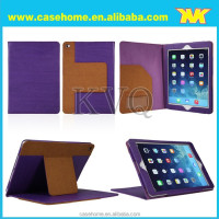 Luxury book style stand case for iPad mini with card holder and logo sticker