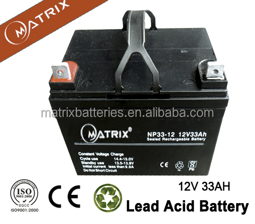 mf 12v 33ah China electric trolling motor battery wholesale