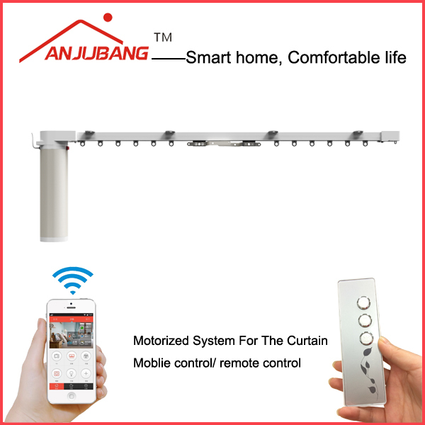 curtain motor/ curtain track/ remote controller, electric curtain, wifi Zigbee curtain control system for home automation
