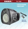 SHIER TK-T99 China made portable fm radio mini digital speaker With MP3 input