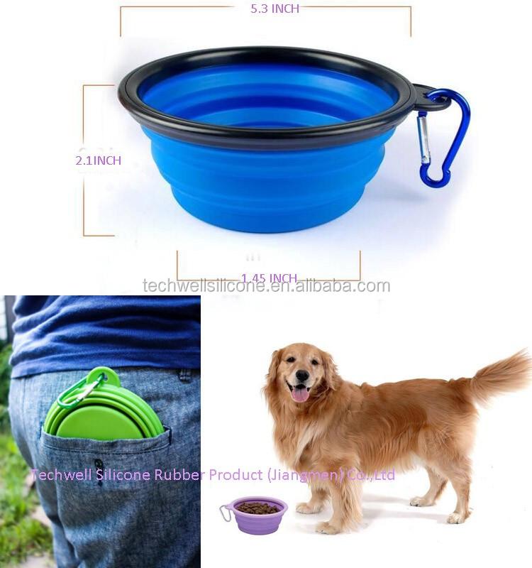 Customized Print Logo Set Of 2 Pcs Foldable Silicone Dog