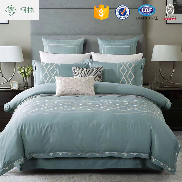 Wholesale home used embroidered modern twin bed sheets sets