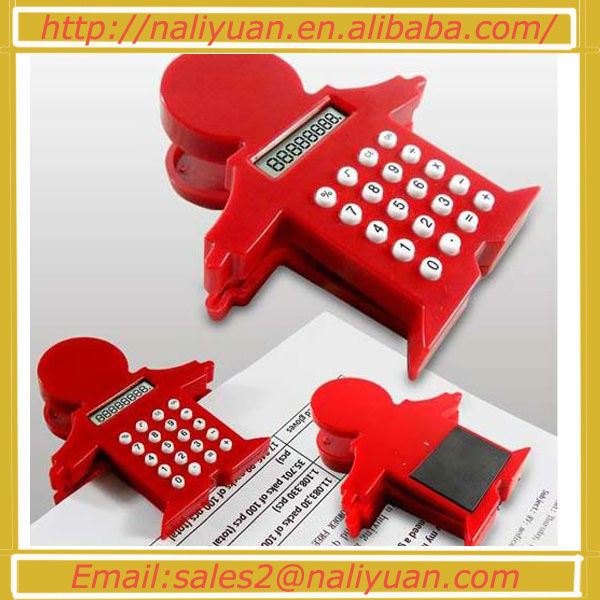Hot sales man shape clip calculator with magnet for promotion