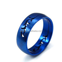 Wholesale Jewelry set marking supplies Stainless Steel Blue Stamping band Ring