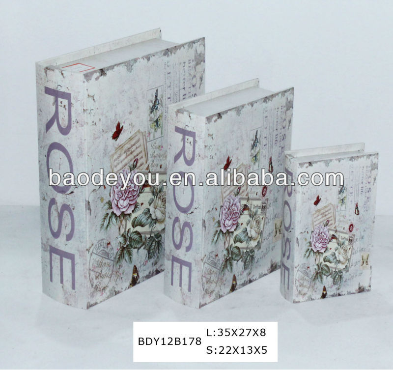 2013 new designed unfinished wooden book box for sale