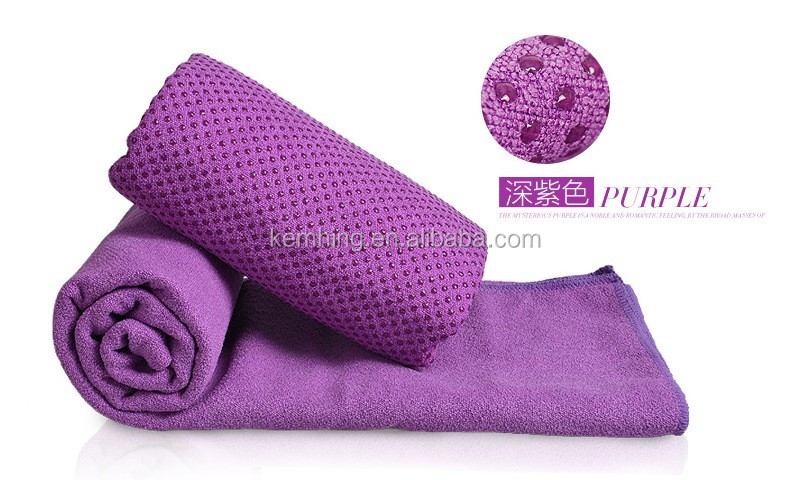 Microfiber fabric sports yoga towel yoga towel non slip