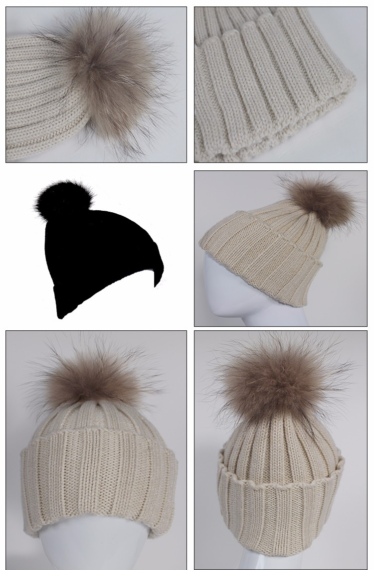 Wholesale Fashion Winter Hat Custom 100% Acrylic Knitted Beanie