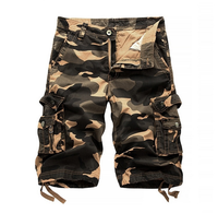 X85996B fashion 100%cotton Camouflage shorts wholesale casual men cargo shorts
