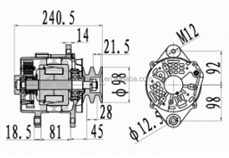 """24V 80A"" Dynamo Price For Mitsubishi OEM A6T75586"