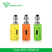 New 2018 Best Vape E cig Tesla 5ml H8 atomizer WYE200 Vape Box kit 200W Teslacigs WYE 200
