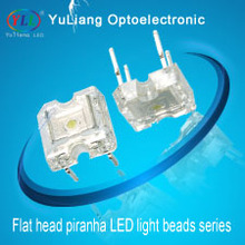 Promotion multicolor color 4-Pin 3mm / 5mm / flat top Super Flux Led piranha white led