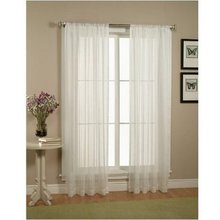 Ready Made Beautiful Solid Sheer Window Elegance Curtains for Home Decor