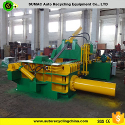Hydraulic metal baler for small metal recycling plant