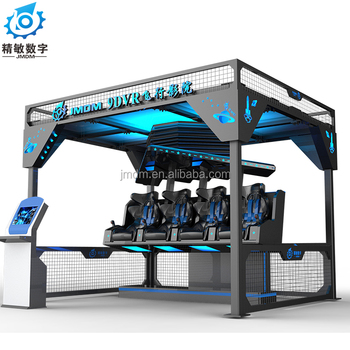 CE certificate 9D vr 360degree movies four seats flying vr cinema for shopping mall