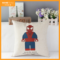 Wholesale Linen Sublimation Print Decorative paillette pillow case