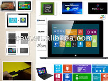 10inch Intel Bay Trail Quad Core windows8 ultrastick 3G x86 tablet pc with GPS function