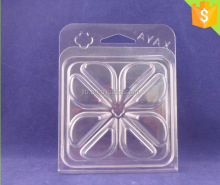 Customized Disposable cheap Plastic Clamshell Candle Packaging Box