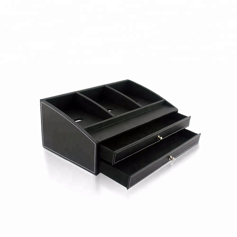 China Manufacturer Custom Foldable Leather Magazine Book Storage Box
