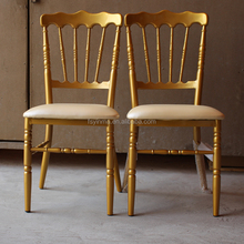 Factory price gold metal folding chiavari chairs for tiffany