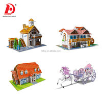 good gift Paper 3D Puzzle toys,painter jigsaw,jigsaw puzzle