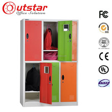 Customized colour Cheap changing room/dressing room metal clothes locker 6 doors