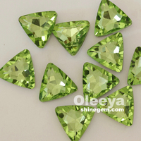 New Arrival!!! Full Colors Crystal Light Peridot Special Pointback Rhinestone triangle shape items