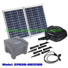 Pond filtration pump powered by solar panel (SPB50-801210D)