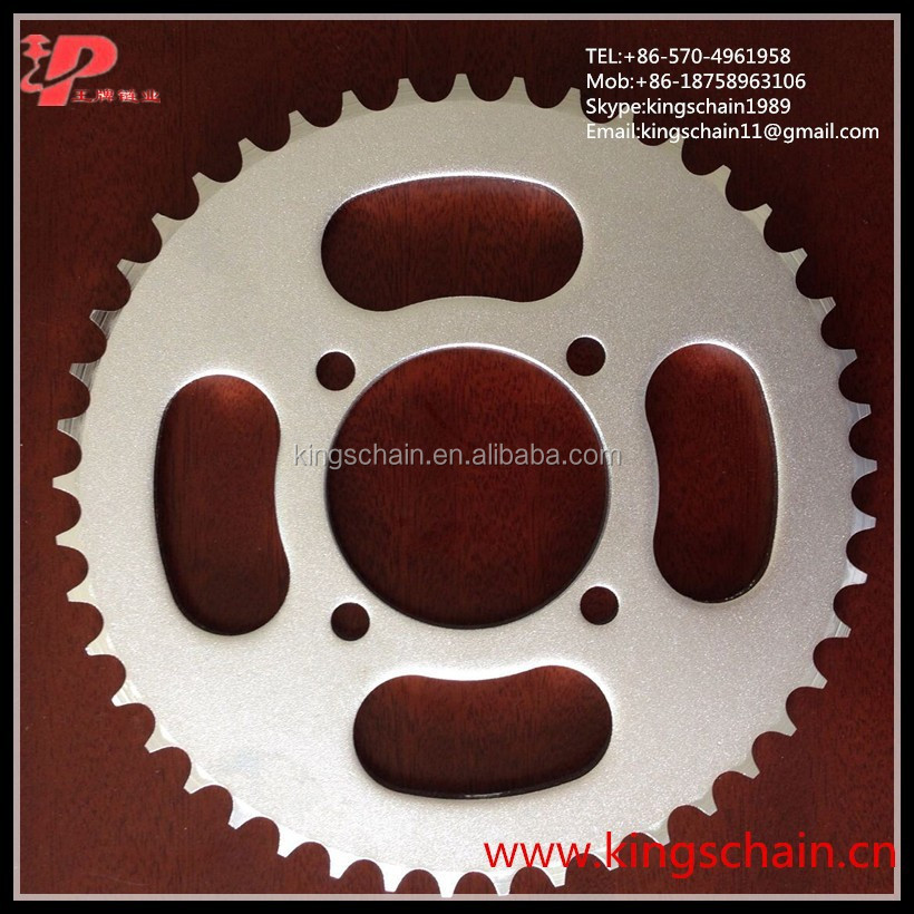 motorcycle transmission parts 1045 steel white zinc YBR125 motorcycle sprocket