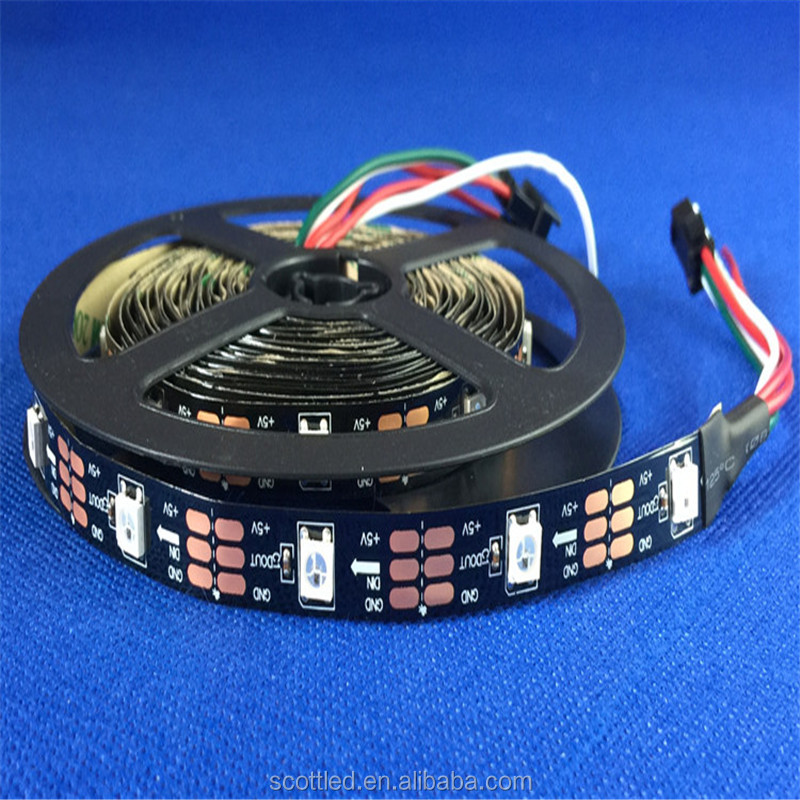 Hot sale SK6812 30 leds/m SMD 5050 RGB Flexible full color pixel led strip Light 5V addressable rgb led strip