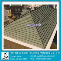 Splendid design vetrified metal roof tile marble look porcelain tile SGB stone coated metal roofing shingle on sale