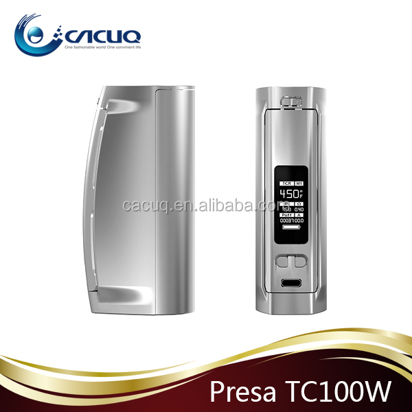 Wismec Newest TC BOX MOD Presa TC100W 2016 Hot Selling Wismec Presa 100W with safety lock switch